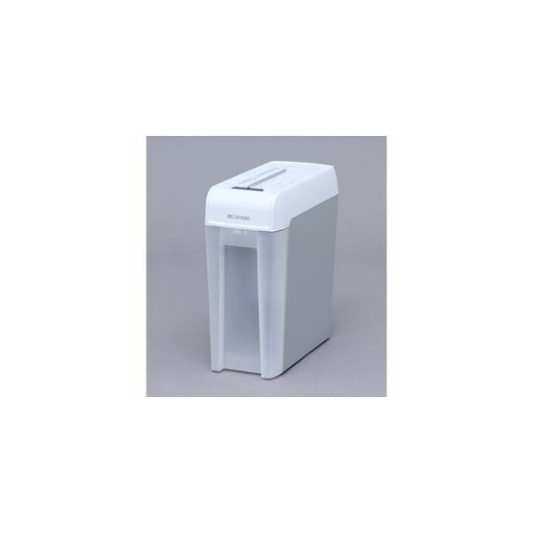 アイリスオーヤマ マイクロカットシュレッダー (A4サイズ/CD・DVD・カードカット対応) ホワイト/グレー KP6HMCS