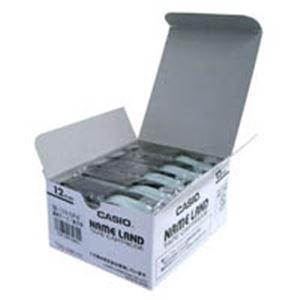 (業務用5セット) カシオ計算機(CASIO) テープ XR-12X-5P-E 透明に黒文字 12mm5個