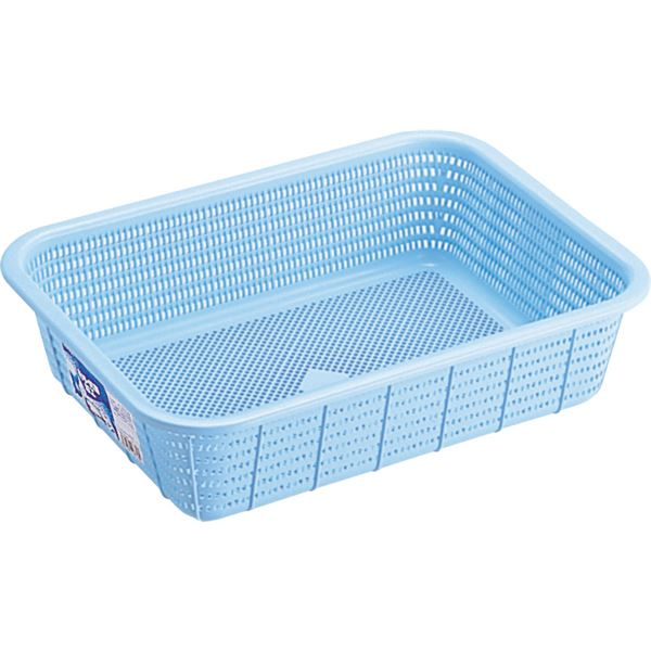 【20セット】 キッチンバスケット/キッチン用品 【Mサイズ】 ブルー 材質:PP メッシュ形状 『HOME&HOME』【代引不可】