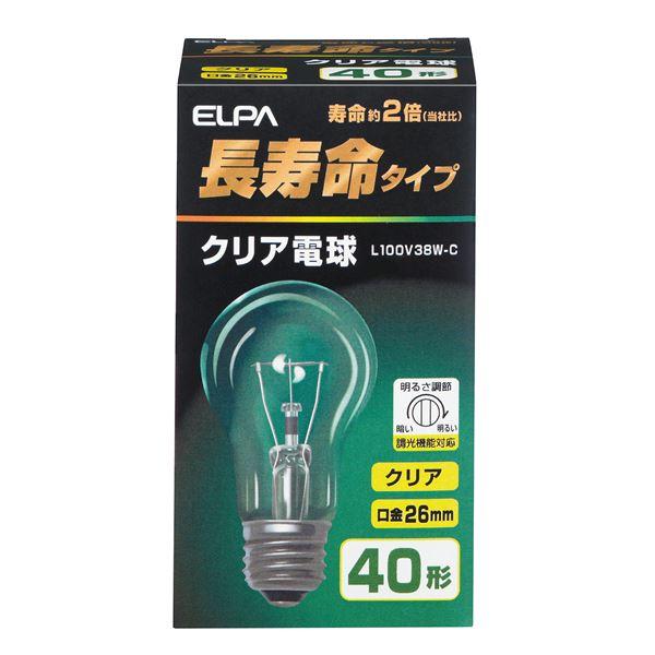 (業務用セット) ELPA 長寿命クリア電球 40W形 E26 L100V38W-C 【×35セット】