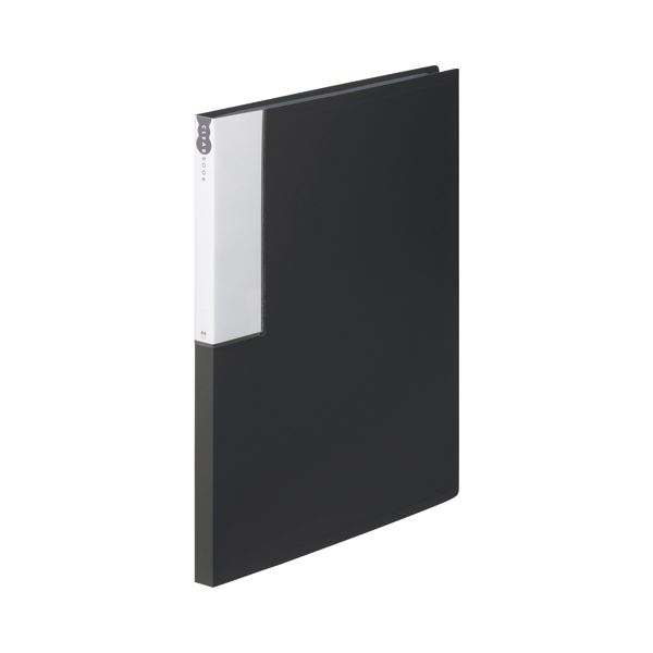 (まとめ) TANOSEE クリヤーブック(クリアブック) A4タテ 24ポケット 背幅17mm ダークグレー 1セット(10冊) 【×5セット】