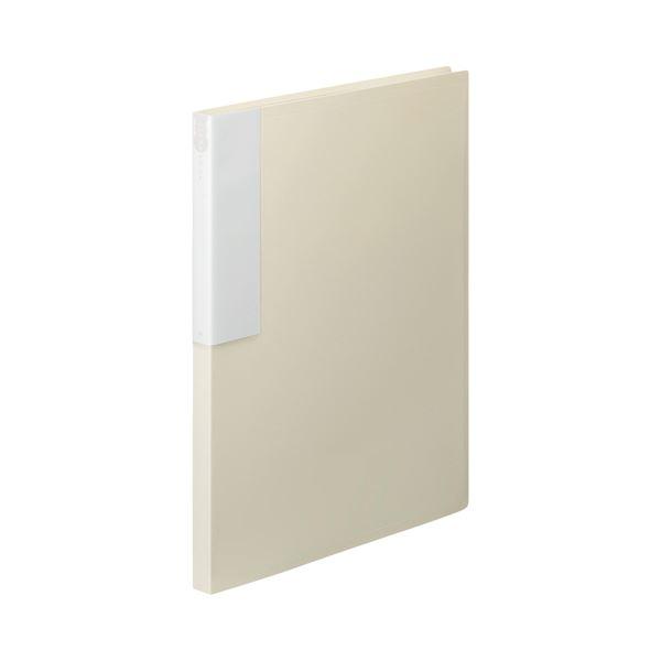 (まとめ) TANOSEE クリヤーブック(クリアブック) A4タテ 24ポケット 背幅17mm オフホワイト 1セット(10冊) 【×5セット】