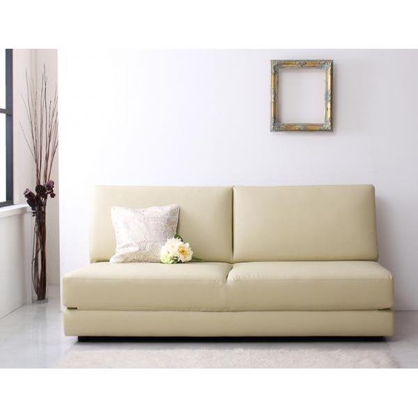ソファーベッド 幅160cm アイボリー ふたり寝られるモダンデザインソファベッド Nivelles ニヴェル【代引不可】