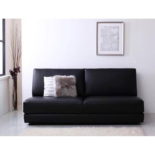 ソファーベッド 幅160cm ブラック ふたり寝られるモダンデザインソファベッド Nivelles ニヴェル【代引不可】