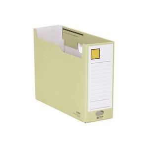 (業務用100セット) キングジム Gボックス/ファイルボックス 【A4/ヨコ型】 段ボール製 収納幅:100mm 4033 黄