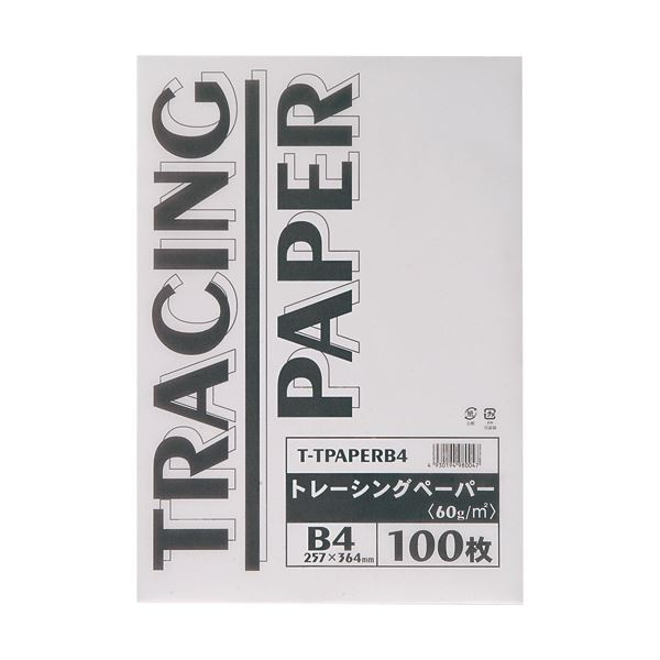 (まとめ) TANOSEE トレーシングペーパー60g B4 1パック(100枚) 【×5セット】