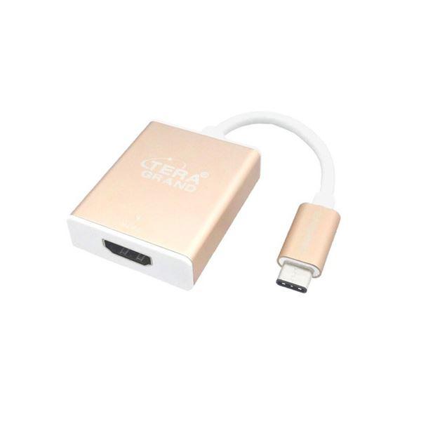 (まとめ)テック Tera Grand USB3.1 TypeC-HDMI変換アダプタ USBからHDMIコネクタへ変換 USB31-TE297-GD【×2セット】