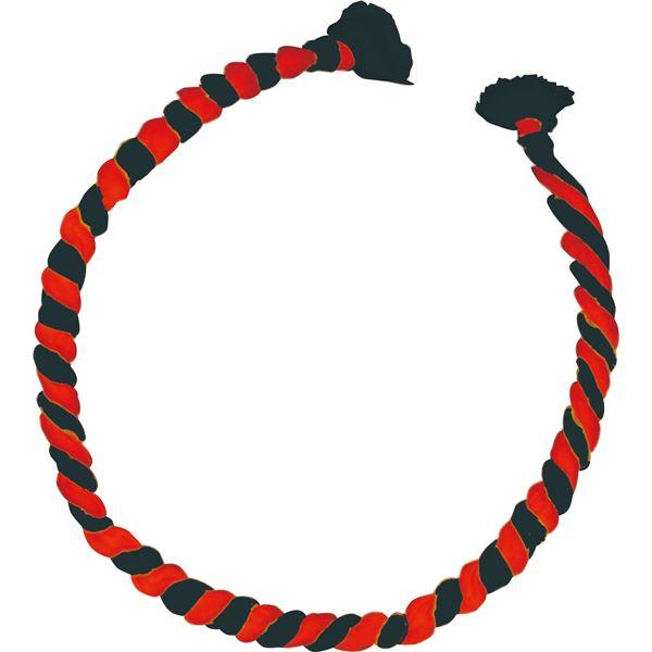 (まとめ)アーテック ねじりはちまき/鉢巻 【中芯入り】 φ11×全長950mm レッド(赤)×ブラック(黒) 【×30セット】
