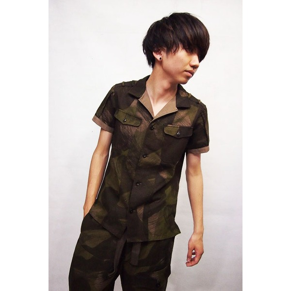 VADEL combat shirts SS KHAKI×BEIGE サイズ44【代引不可】