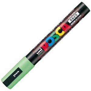 三菱鉛筆 (業務用200セット) ポスカ/POP用マーカー PC-5M.5 【中字/黄緑】 水性インク