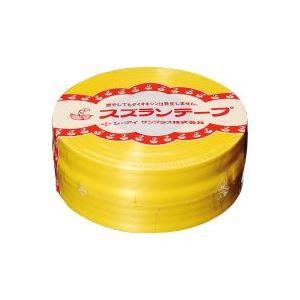 (業務用100セット) CIサンプラス スズランテープ/荷造りひも 【黄/470m】 24202011