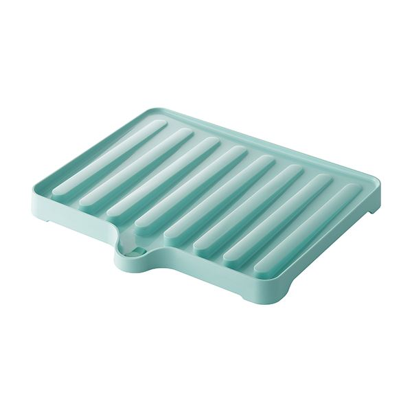 【50セット】 ドレーナー/水切り器具 【ブルーグリーン】 38.4×34×3.5cm 本体:PP 『リベラリスタ』【代引不可】