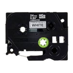 (業務用3セット) ブラザー工業(BROTHER) ハイグレードテープHGe-251V白に黒24mm 5個