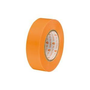 (業務用300セット) ヤマト ビニールテープ/粘着テープ 【19mm×10m/橙】 NO200-19