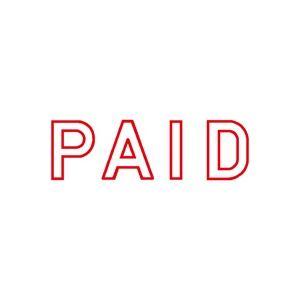 (業務用50セット) シヤチハタ Xスタンパー/ビジネス用スタンプ 【PAID】 赤 XBN-10052