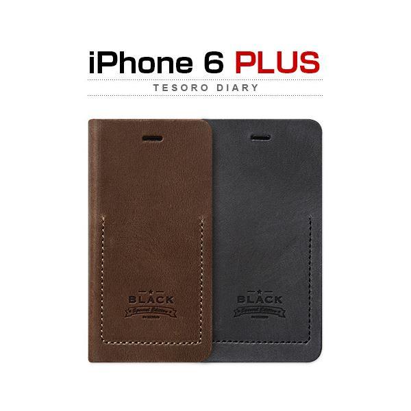 ZENUS iPhone6 Plus Black Tesoro Diary ブラック