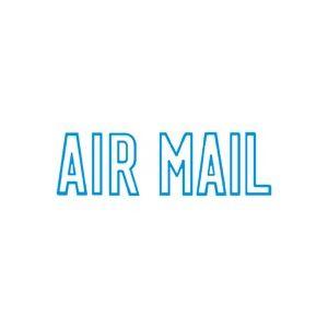 (業務用50セット) シヤチハタ Xスタンパー/ビジネス用スタンプ 【AIR MAIL】 藍 XBN-10013