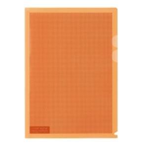 (業務用5セット) プラス カモフラージュホルダー A4 橙 100冊