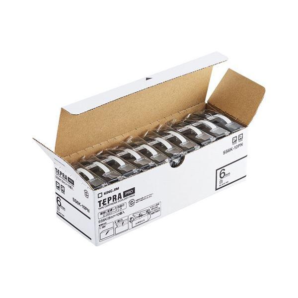 キングジム PROテープ エコパック 透明ラベル 6mm 10個入 ST6K-10PN