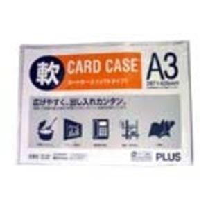 (業務用100セット) プラス 再生カードケース ソフト A3 PC-303R