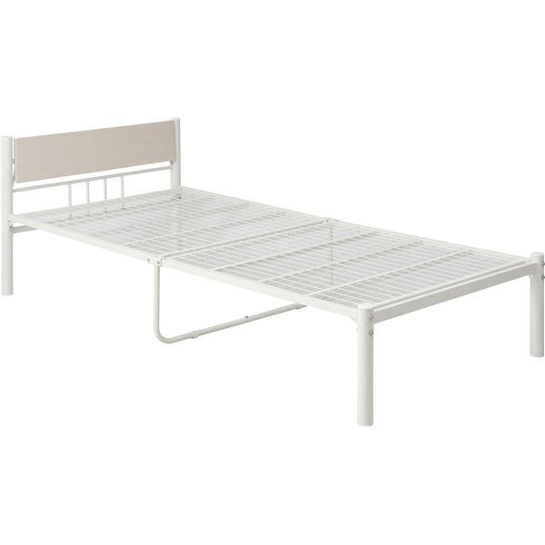 シンプル 新生活家具3点セット 【ホワイト】 シングルベッド・テーブル・チェア・収納付ハンガーラック 〔引っ越し 一人暮らし〕【代引不可】
