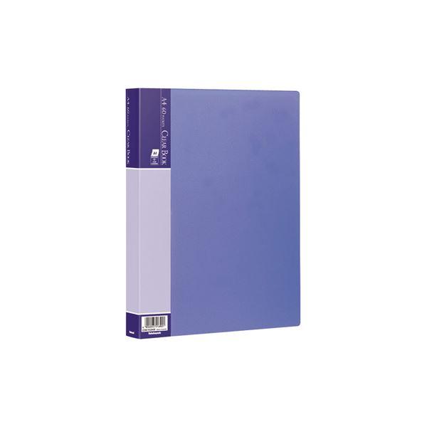 (業務用セット) クリアブックE/ベーシックカラー A4 60P CBE-1034B ブルー【×10セット】