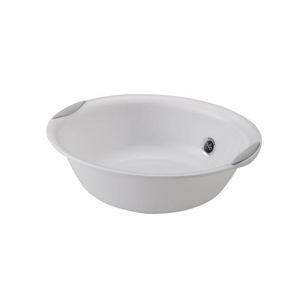 【30セット】 洗面器/洗面ボウル 【プラチナホワイト】 材質:PP すべり止め付き 『AGラスレウ゛ィーヌ』【代引不可】