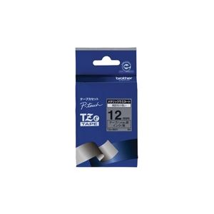 (業務用30セット) brother ブラザー工業 文字テープ/ラベルプリンター用テープ 【幅:12mm】 TZe-M931 銀に黒文字