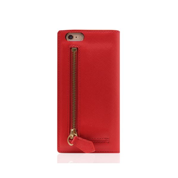 SLG Design iPhone6/6S Saffiano Zipper Case レッド