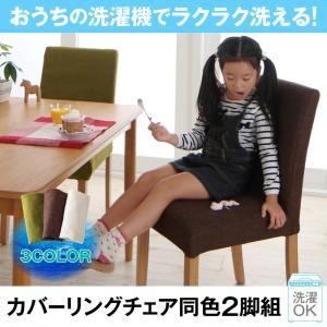 【テーブルなし】チェア2脚セット【Wash】ブラウン(BR) おうちの洗濯機でラクラク洗える! カバーリングダイニング【Wash】ウォッシュ