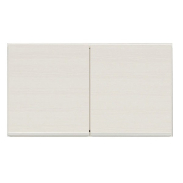 上置き(ダイニングボード/レンジボード用戸棚) 幅75cm 日本製 ホワイト(白) 【完成品】【玄関渡し】【代引不可】