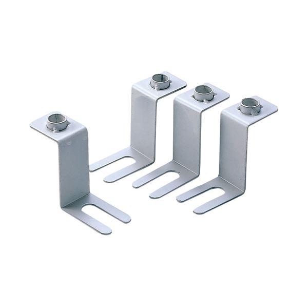 (まとめ)サンワサプライ 床固定金具(4個セット) RAC-QL1【×2セット】