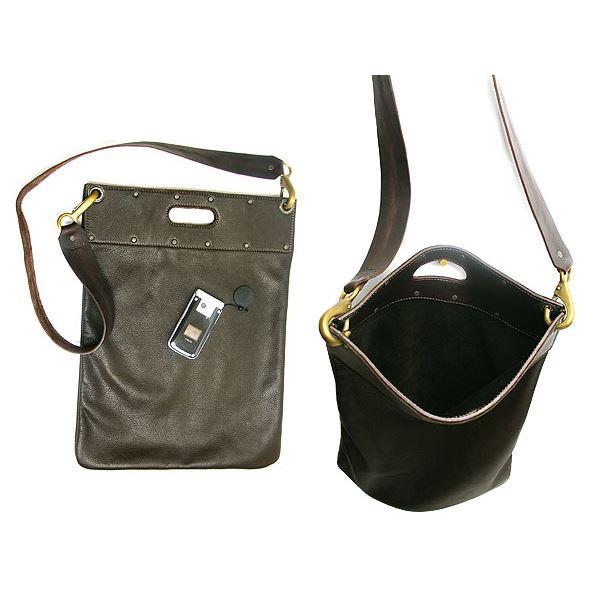 ★dean(ディーン) flat sack レザーバッグ 茶