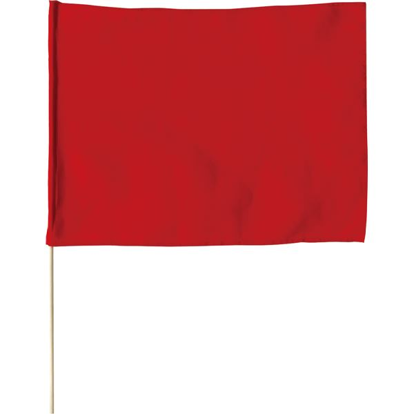 (まとめ)アーテック 旗/フラッグ 【大】 600mmX450mm ポリエステル製 軽量 レッド(赤) 【×30セット】