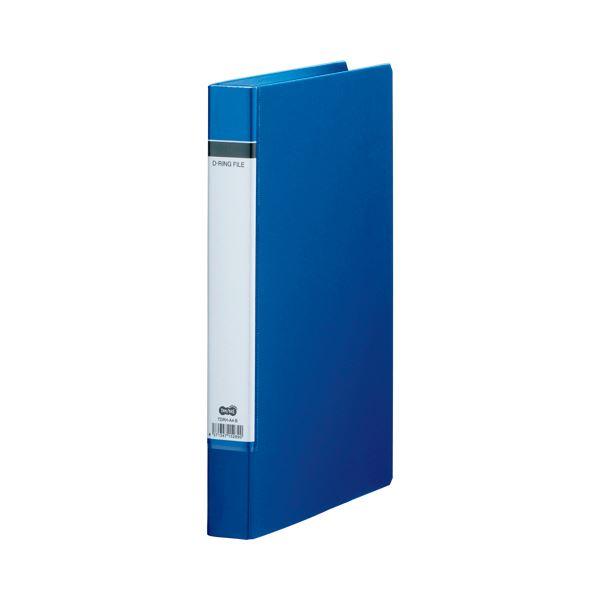 (まとめ) TANOSEE Dリングファイル(貼り表紙) A4タテ 2穴 210枚収容 背幅40mm 青 1セット(20冊) 【×2セット】