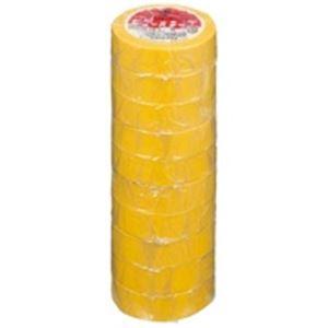 (業務用50セット) ヤマト ビニールテープ/粘着テープ 【19mm×10m/黄】 10巻入り NO200-19 ×50セット
