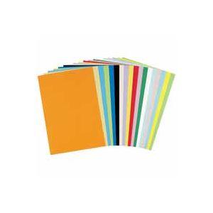 (業務用30セット) 北越製紙 やよいカラー 色画用紙/工作用紙 【八つ切り 100枚】 みかん