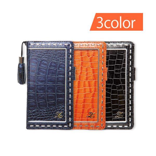 ZENUS Xperia(TM) A SO-04E Prestige Prima Croco Diary ブラック