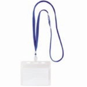 (業務用200セット) ソニック IDカード用吊下げ名札 NF-451-B 青