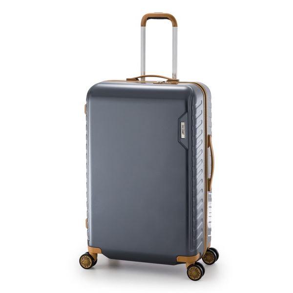 スーツケース/キャリーバッグ 【ガンメタ】 90L 手荷物預け無料最大サイズ ダイヤル式 アジア・ラゲージ 『MAX SMART』