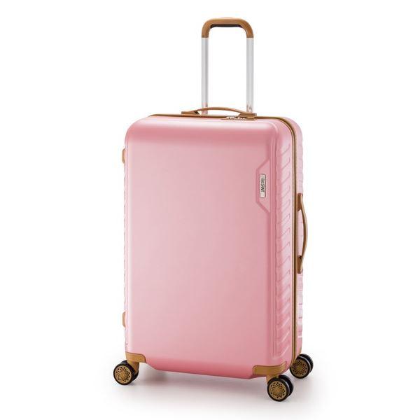 スーツケース/キャリーバッグ 【ピンク】 90L 手荷物預け無料最大サイズ ダイヤル式 アジア・ラゲージ 『MAX SMART』