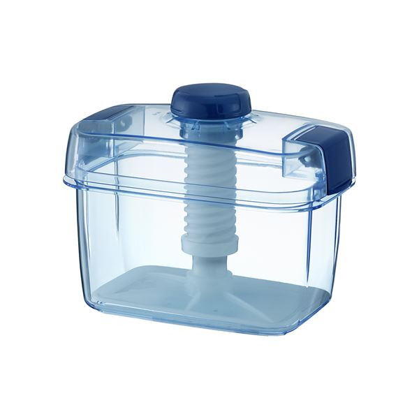 【18セット】 漬物容器/漬物用品 【S-22 クリアブルー】 ハイペット 〔キッチン用品 家庭用品 手づくり〕【代引不可】