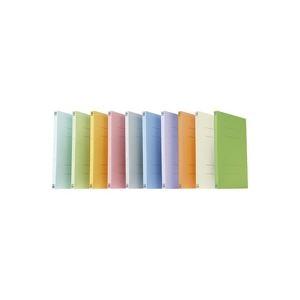 (業務用100セット) プラス フラットファイル/紙バインダー 【A4/2穴 10冊入り】 021N リーフグリーン ×100セット