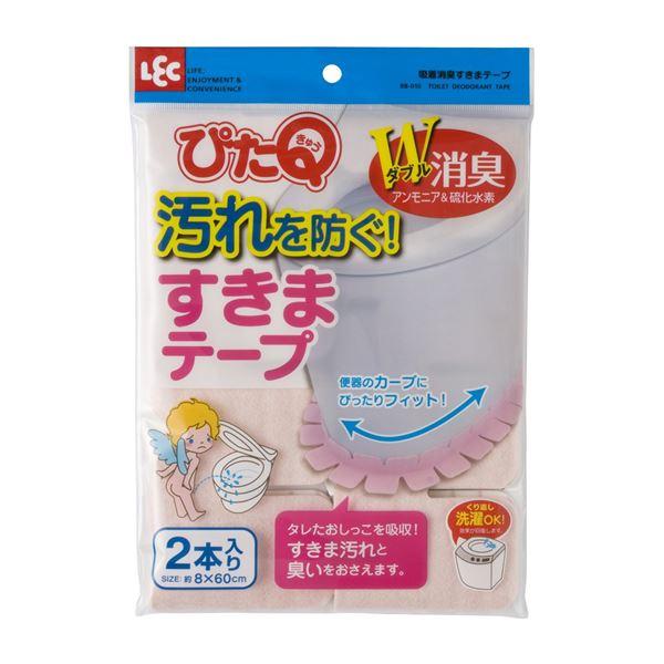 (まとめ) 吸着消臭すきまテープ/消臭シート 【ピンク 2本入り】 トイレ用品 『レック ぴたQ』 【72個セット】