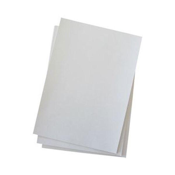 (まとめ)今村紙工 プリンター対応 綴じ込み表紙A4 白 TKH-A4 1パック(50枚)【×20セット】