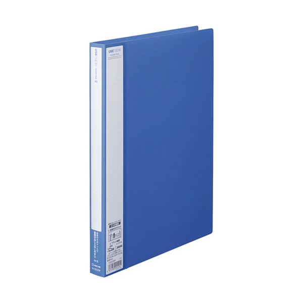 (まとめ) キングジム ユーズナブルクリアーファイル A4タテ 40ポケット 背幅24mm 青 133USWアオ 1冊 【×30セット】