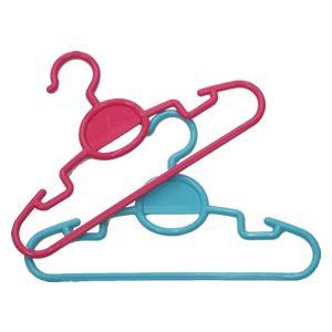 (まとめ) 子供用ハンガー/衣類ハンガー 【2本組】 重ね吊り 吊りスカート・ズボン可 【×30個セット】