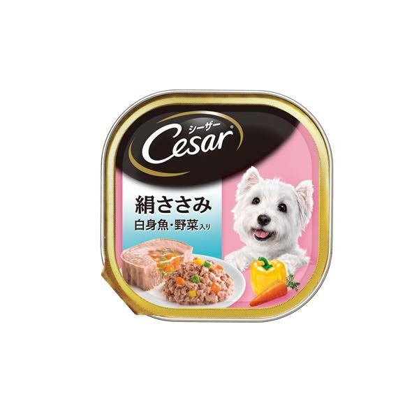 (まとめ)シーザー 絹ささみ 白身魚・野菜入り 100g (ペット用品・犬フード)【×96セット】