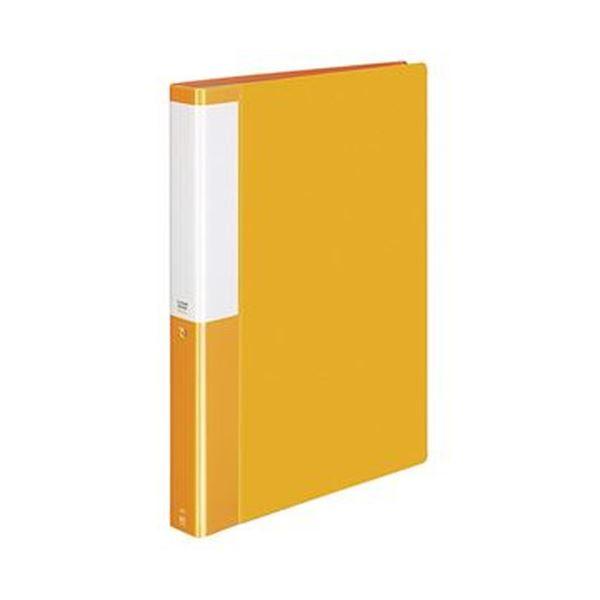 (まとめ)コクヨ クリヤーブック(POSITY)固定式 A4タテ 60ポケット 背幅35mm オレンジ P3ラ-L60NYR 1セット(4冊)【×5セット】
