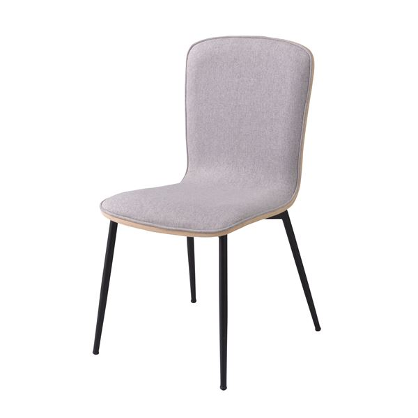 ダイニングチェア/食卓椅子 【2脚セット ブラウン】 幅43cm スチール クッション コットン 『メイソン』 【組立品】